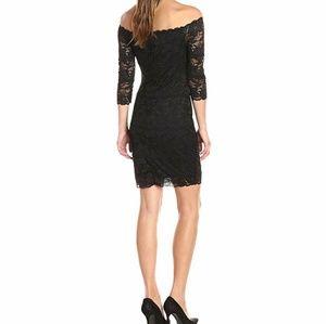 Guess Celina little black dress lace off shoulder
